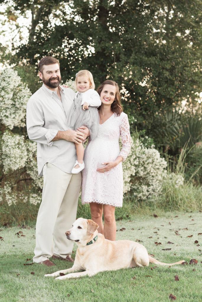 maternity, family, portrait, sunrise